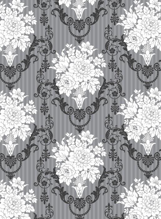 Vinylová Tapeta Ornemental gris kytice květiny - Slavnosti