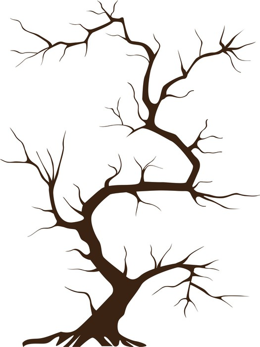 sticker arbre sans feuille pixerstick - Arbre Sans Feuille