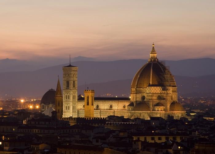 Vinylová Tapeta Florence v noci - Itálie