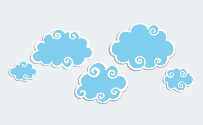 aufkleber blaue wolken mit wei em rand pixers wir. Black Bedroom Furniture Sets. Home Design Ideas