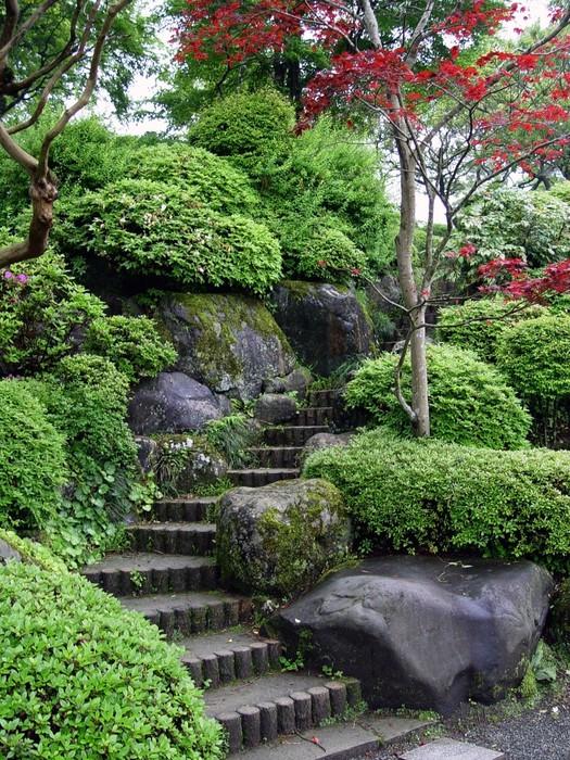 Pixerstick Aufkleber Japanischen Garten in Tokio -
