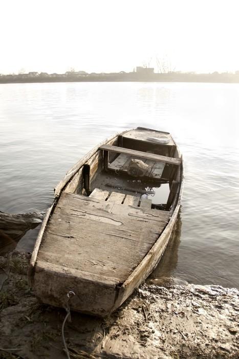 Vinylová Tapeta Staré lodi na břehu řeky - Lodě