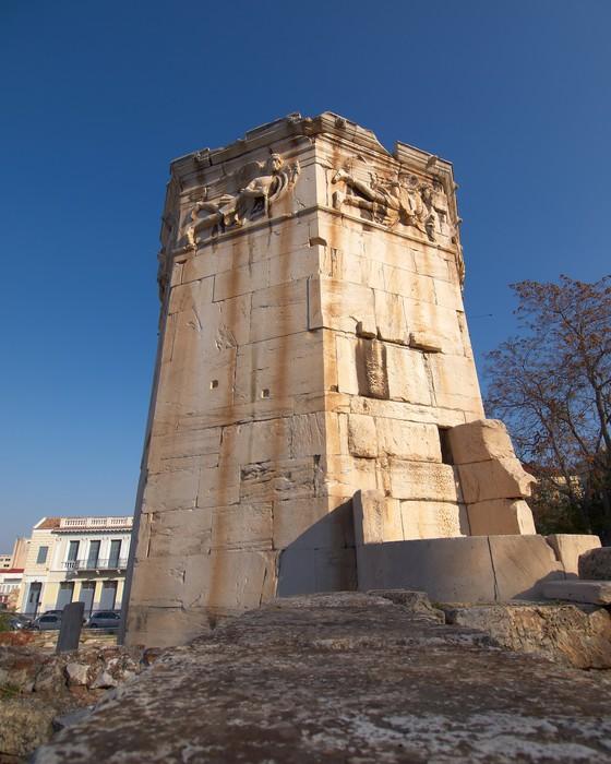 Nálepka Pixerstick Starověké římské věží větrných elektráren, Athény Řecko - Evropská města
