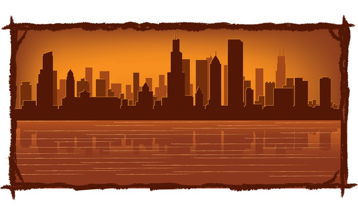 Vinylová Tapeta Chicago skyline - Amerika