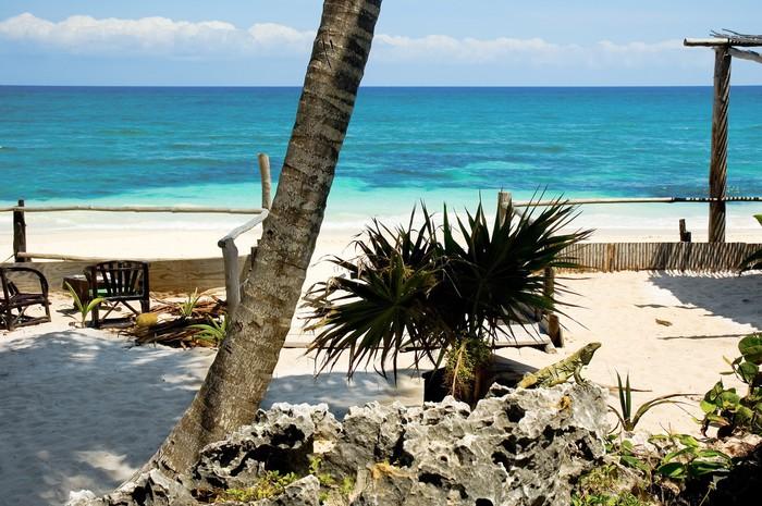 Vinylová Tapeta Riviera Maya Beach - Amerika