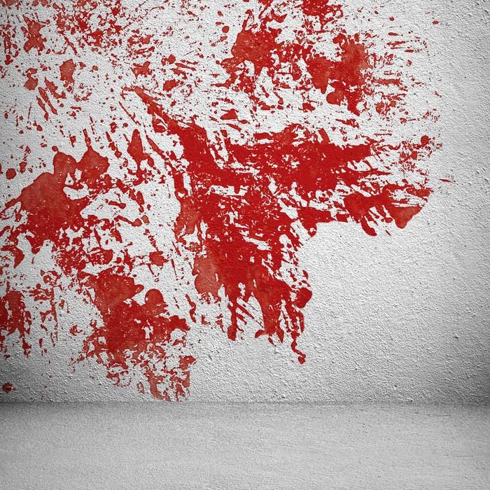Papier peint Tache rouge sur le mur blanc • Pixers® - Nous vivons ...
