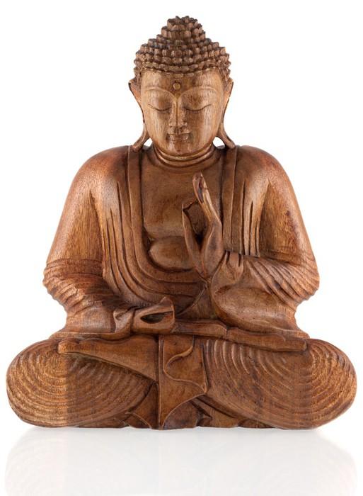 Vinylová fototapeta Buddha dřevo - Vinylová fototapeta