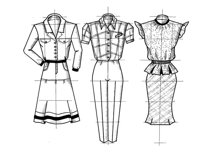 abbastanza Carta da Parati Tre disegni di vestiti • Pixers® - Viviamo per il  FF53