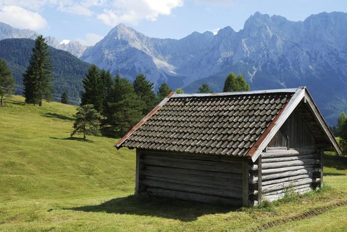 Nálepka Pixerstick Stodola v Alpách - Hory
