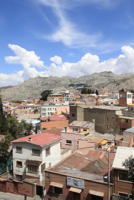 Vinylová Tapeta Bolivijský slumy pod modrou oblohou - Amerika