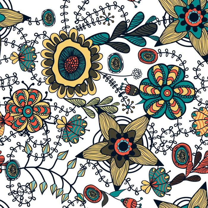 Carta da parati seamless texture floreale pixers for Carta da parati vinile