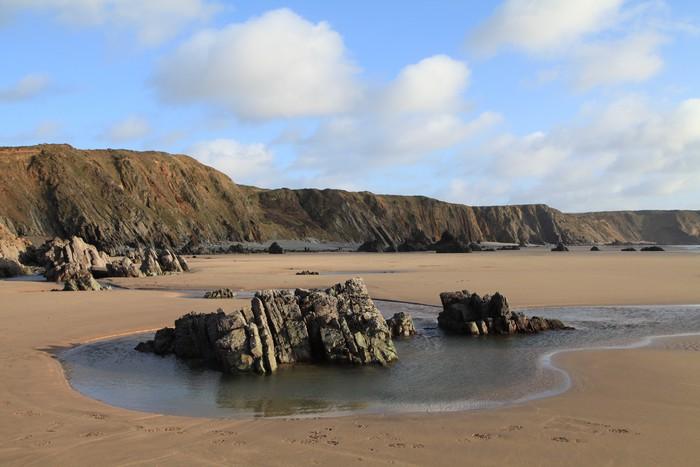 Vinylová Tapeta Pláž u Marloes, Pembrokeshire - Voda