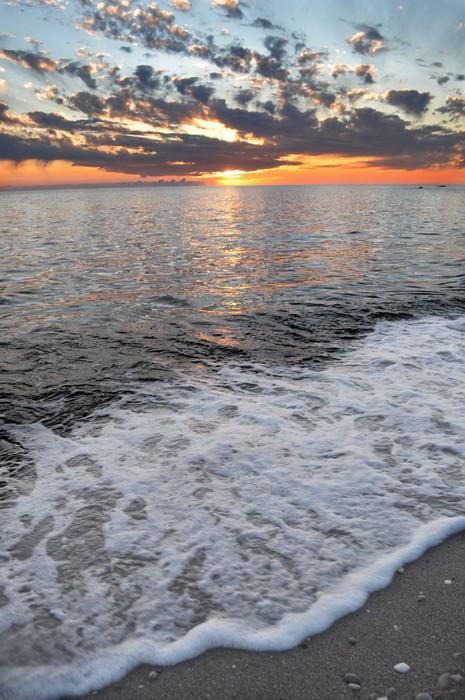 Vinylová Tapeta Západ slunce na pláži - Příroda a divočina