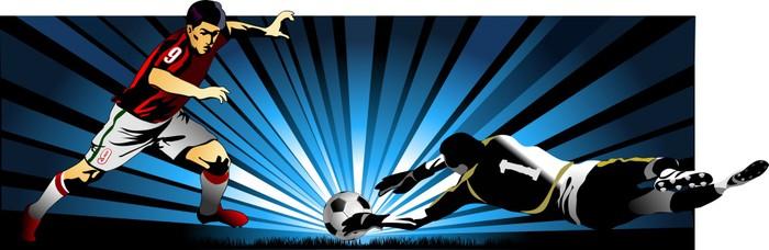 Vinylová Tapeta Fotbalista A Goalkeeper - Týmové sporty