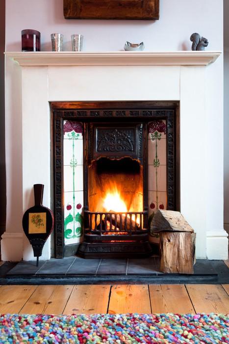 fototapete winter wohnzimmer feuer - Wohnzimmer Feuer