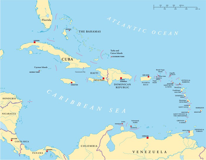 fototapete karibik antillen landkarte pixers wir leben um zu ver ndern. Black Bedroom Furniture Sets. Home Design Ideas