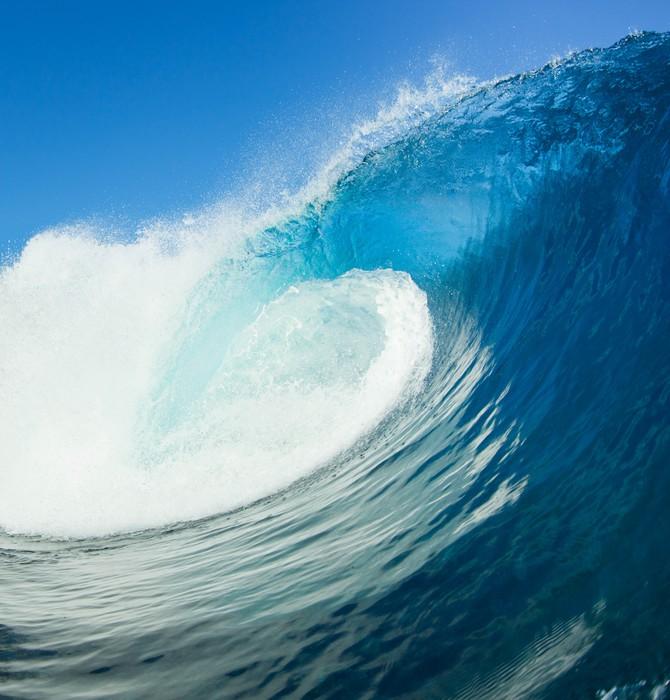 tableau sur toile bleu ocean wave pixers nous vivons. Black Bedroom Furniture Sets. Home Design Ideas