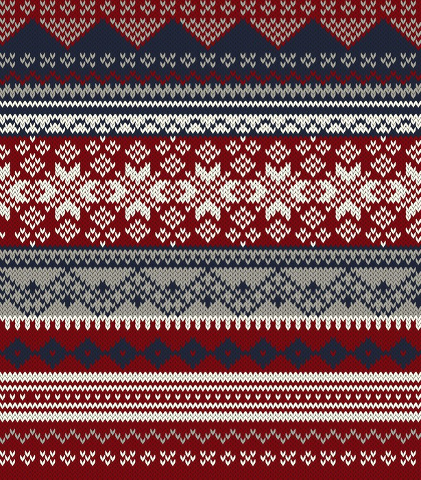 Knitted background in Fair Isle style in three colors Wall Mural ...