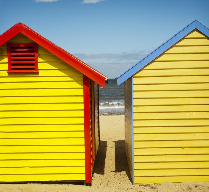 papier peint cabanes de plage color es la plage de brighton melbourne pixers nous. Black Bedroom Furniture Sets. Home Design Ideas