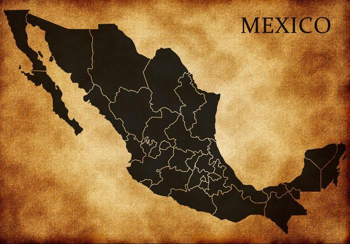 Vinylová Tapeta Mapa Mexika - Amerika