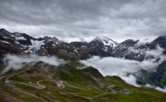 Vinylová Tapeta Grossglockner High Alpine Road. - Hory