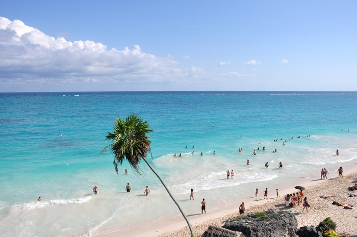 Vinylová Tapeta Spiaggia di Tulum - Amerika
