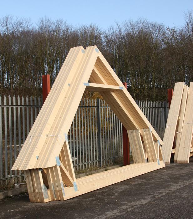 Vinylová Tapeta Stack dřevěných krovů v Stock Yardu. - Těžký průmysl