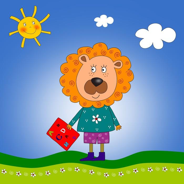 Vinylová Tapeta Lion. Ilustrace pro děti - Osud