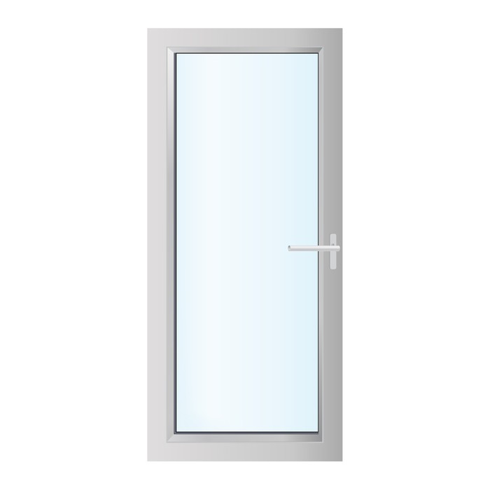 Plastics Glasses Door On The White Background Vector Wall Decal