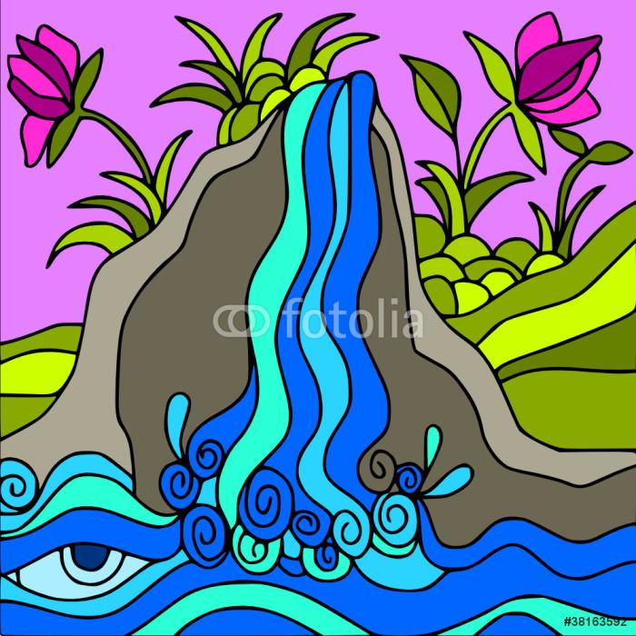 Vinylová Tapeta Vodopád - Přírodní krásy