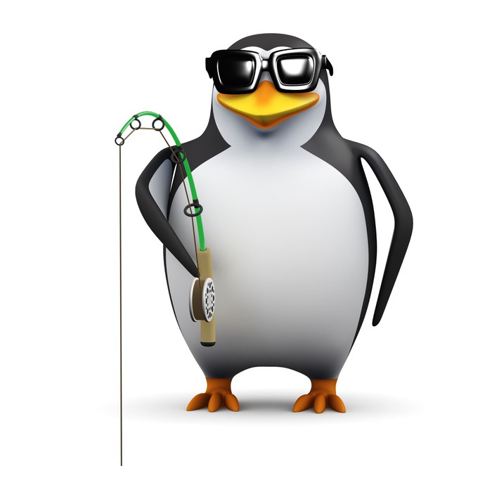Vinylová Tapeta 3d Penguin je rybolov - Značky a symboly