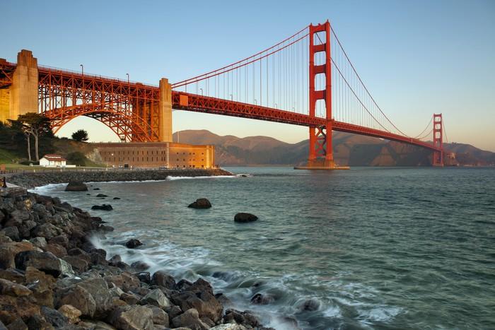 Vinylová Tapeta Golden gate bridge - Amerika