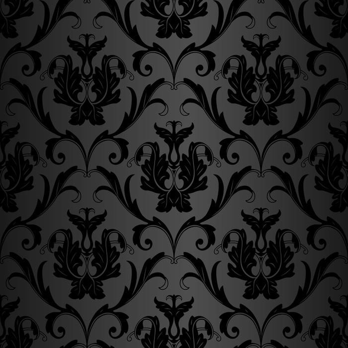 fototapete nahtlose schwarz tapetenmuster - Tapeten Muster