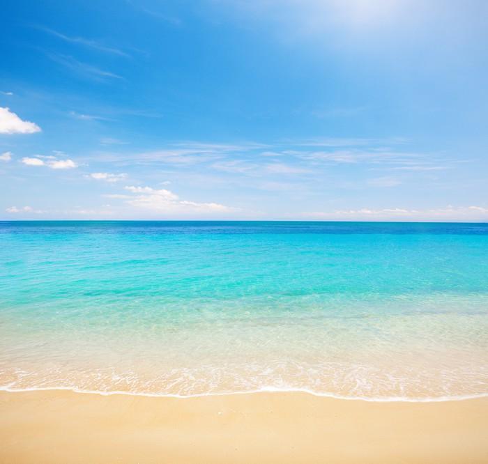 Tableau sur toile plage et une mer tropicale pixers nous vivons pour changer - Tableaux mer et plage ...