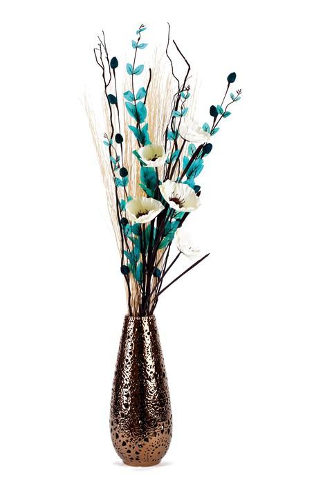 Nálepka Pixerstick Tall stylové aranžování květin ve váze izolovaných - Květiny
