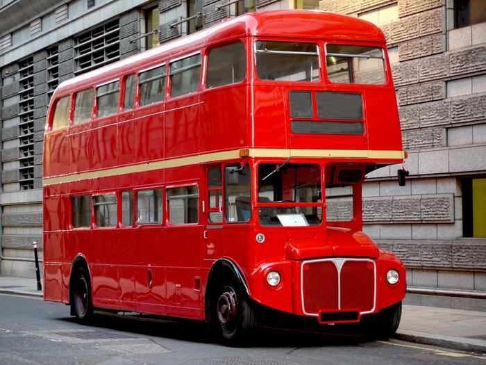 tapete london bus traditionelle rote pixers wir leben um zu ver ndern. Black Bedroom Furniture Sets. Home Design Ideas