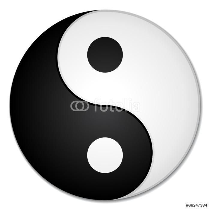 Papier peint yin yang pixers nous vivons pour changer for Salle de bain yin yang