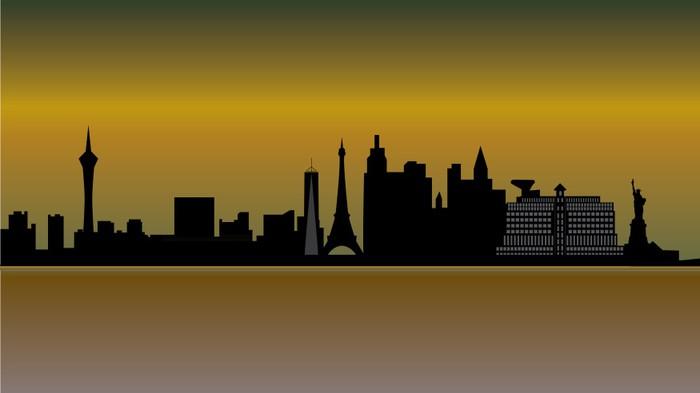Vinylová Tapeta Las Vegas panorama - Jiné