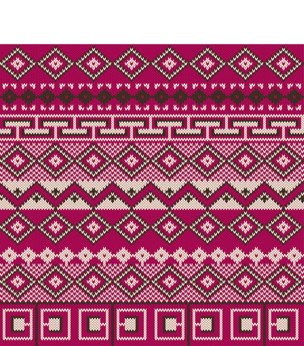 Knitted background in Fair Isle style Wall Mural • Pixers® • We ...