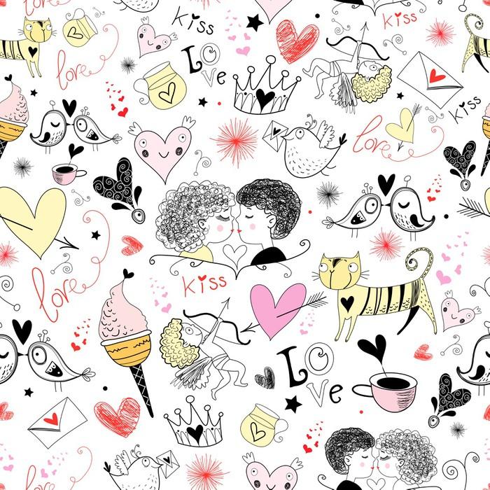 carta da parati texture con san valentino pixers