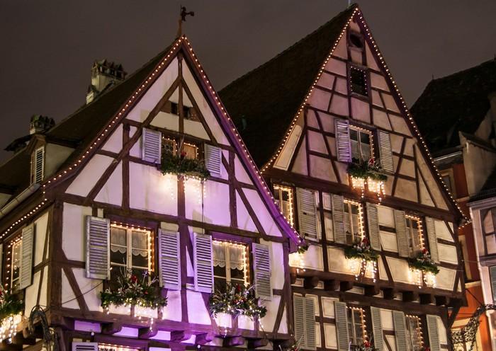 Vinylová Tapeta Vánoční trh v Colmar v Alsasku - Mezinárodní svátky