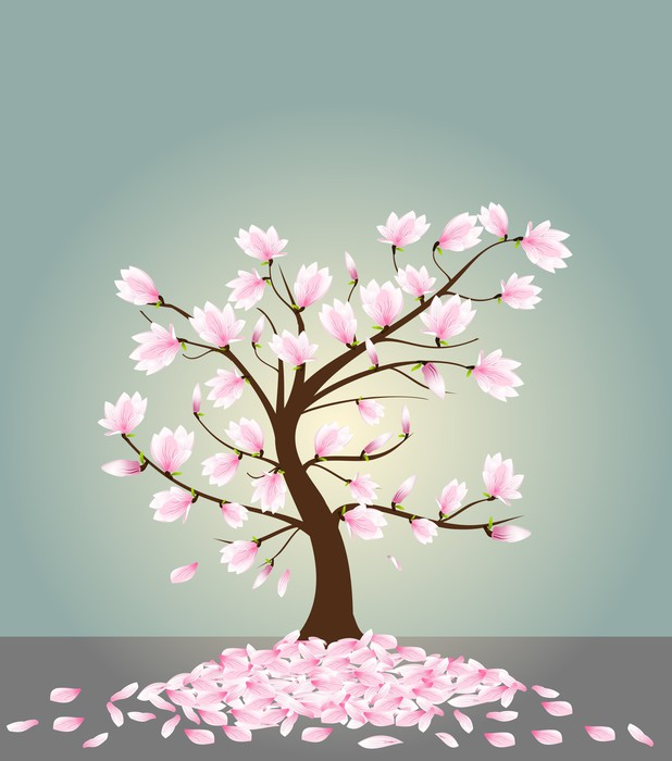 Magnolia tree Wall Mural Pixers We live to change