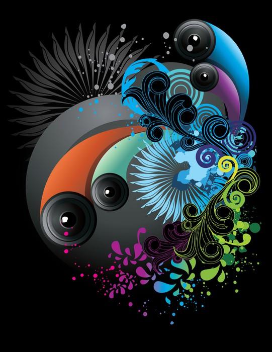 Vinylová Tapeta Neon barevné abstraktní vektor - Jiné pocity