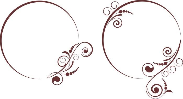 Vinylová Tapeta Ozdobné rámečky pro design - Pozadí
