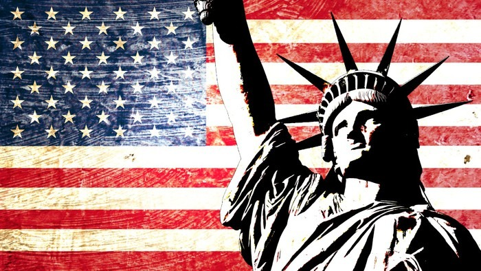 Drapeau Usa Statue De La Libert 233 Wall Mural Pixers 174 We