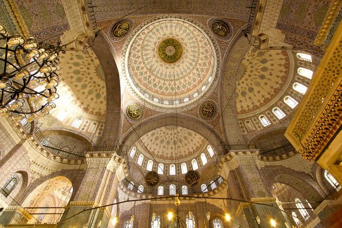 Vinylová Tapeta Úžasné detaily interiéru oblouk uvnitř mešity v Istanbulu - Střední Východ