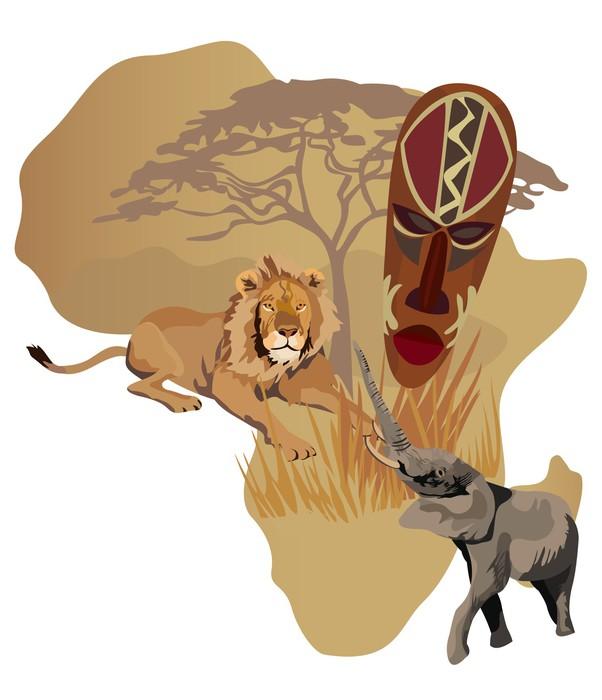fototapete symbole von afrika pixers wir leben um zu ver ndern. Black Bedroom Furniture Sets. Home Design Ideas