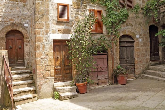 Fotobehang Italiaanse Werf In Toscaanse Dorp Pixers