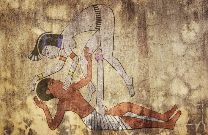 Ancient Egypt   Erotic Drawing Looks Like Fresco Wall Mural   Vinyl Part 67