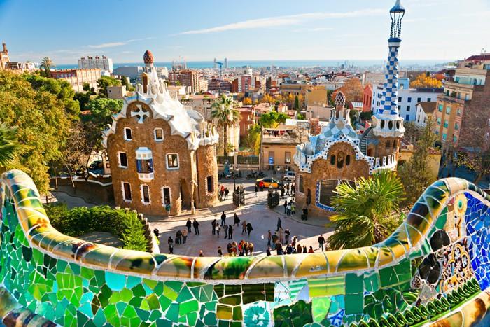 Vinylová Tapeta Park Güell v Barceloně, Španělsko. - Osud